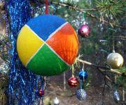 Karácsonyfa dísz GC logóval.