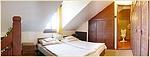 a galériás apartman hálószobája