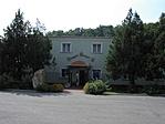 A gyár és a múzeum bejárata