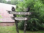 Tasnádi Kubacska Csarnok táblája