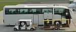 Ezzel a Scania busszal utazunk   (a csomagszállító kocsi nem jön velünk :-) )