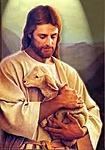 Jézus báránnyal