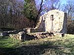 Újlaki templomrom tavasszal Forrás: GCUJTE ládaoldal